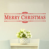 YO-95 Merry Christmas Wall Citazioni Decalcomania Decorazione natalizia Sticker FAI DA TE Home Decor Shop Window Wall Xmas Murale