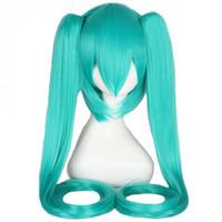 парик для косплей парик оптовых-WoodFestival клип на конский хвост парик зеленый длинные прямые термостойкие синтетического волокна парик косплей парики волос