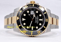 ss automatic - Mens Luxury Watches TWO TONE K YELLOW GOLD SS BLACK CERAMIC BEZEL LN Automatic Mens Men s Watch