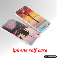 Wholesale Silicon Pattern - 30PCS Sell For Iphone 6S plus Iphone 6 Case with the scener TPU soft Silicon Case Back Cover With the nice Pattern
