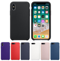 Wholesale Cloth Cases - Original Liquid silicone Soft Microfiber Cloth Lining Cushion Coque Case PU Leather Back Cover For iPhone X 8 7 6s plus 5se Samsung S8 Note8