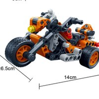 Wholesale Particle Model - The toy car back to small particles of children's educational ideas - moto 6961 assembled block model