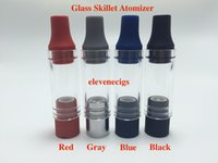 Wholesale Silicon M7 - Dual Wax Coil Glass skillet atomizer Dry Herb Wax Atomizer Ego-M7 D atomizer with Dual Ceramic Rod Coil silicon drip tip