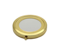 Wholesale Gold Compact Mirror - 70mm blank gold compact mirror Pock compact mirror magnifying Mirror frame Great for DIY Decro M070KG