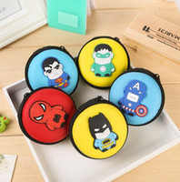Wholesale Hot selling Hero alliance change purse Cartoon hero expression coin bag Children gift change purse Popular coin purse