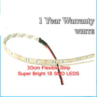 Wholesale Model Cars Led Lights - 5050 LED Car Strip Waterproof Blue Red Green 9V to 12V DC Caravan Boat Model Fairground Funfair LED Light 10cm 15cm 30cm 60cm Via DHL