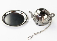 Wholesale teapot designs resale online - MINI Cute Stainless Steel Tea Infuser Pendant Design Home Office Tea Strainer Gift Teapot Type Creative Tea Accessories