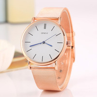 Wholesale Geneva Watch Alloy - Free shipping wholesale Foreign trade sales speed sell hot style alloy Geneva watch ladies fashion color Christmas sMesh belt quartz watch