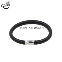 Wholesale Wholesale Beads For Wrap Bracelets - New Fashion Single Layer Black Sheep Leather Wrap Endless Bracelet Bangles Fit For DIY Endless Charms MIJ043