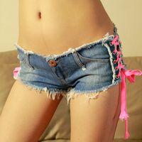 Wholesale Ladies Jeans Short Skirt - 2016 New Sexy Denim Shorts Women Low Waist Short Women Girl Jeans Fashion Ladies Short Pants