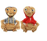 Wholesale Et Terrestrial - New Arrival E.T Plush Doll Toy 20 28cm E.T the Extra-Terrestrial Doll with Clothe High Quality ET Soft Stuffed Toys Boys Gift