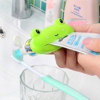 Wholesale Cartoon Toothpaste Sale - Brand New Cartoon Easy Squeezer Toothpaste Tube Dispenser Rolling Holder Cat Frog Panda Pig Big Sale