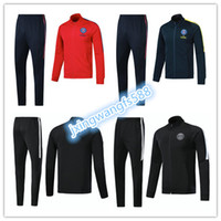 Wholesale Psg Jacket - PSG N98 soccer Jacket 2018 Survetement chandal jogging tracksuit maillot de foot neymar jr CAVANI DI MARIA jacket 17 18 top soccer tracksui