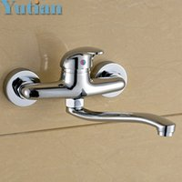 Wholesale Hansgrohe Faucets - Free shipping Wall Mounted kitchen faucet Lavabo tap Vintage hansgrohe cozinha torneira banheiro kitchen product YT-6033