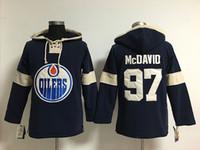 edmonton jugend großhandel-Jugend-Hockey-Jersey billig, Edmonton Hoodie # 99 Wayne Gretzky genähte Stickerei-Logo-Kapuzenpullis Sweatshirts irgendein Name und irgendeine Zahl