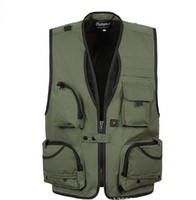 Wholesale Pros Photography - 2016 sale XL~5XL Pro Photography Director Waistcoat Outdoors Hiking Camping Olympia zipper vests Fashion outwear clothing Quick dry vests