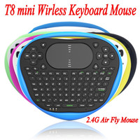 Wholesale t8 tablet for sale - Group buy 2016 Best T8 mini Wirless Keyboard Mouse G Air Fly Mouse Silicone Keyboard With Muti touch Touchpad For Android TV Box Notebook Tablet