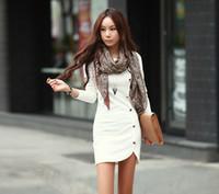 kıyafet hitz toptan satış-Hitz kore versiyonu uzun kollu yuvarlak boyun dikiş tek göğüslü sonbahar ve kış yüksek bel etek paket kalça elbise