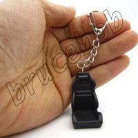 Wholesale race car keyring resale online - Recaro bride Style Type R Racing car driver Seat SRD SPG POLE POSITION Keychain JDM D Metal keyring gift