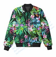 Wholesale Color Paradise - Real USA Size Floral Paradise 3D Sublimation Print zipper up Jacket plus size