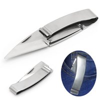 Wholesale Family Clips - 1PC Outdoor Survival Tool Camping Fishing Folding Pocket Rescue Money Clip Knife