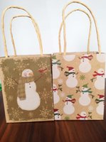 Wholesale Holiday Wrapping Paper - Christmas Gift Wrapping Bags Custom Gift Bag holiday party hand bags kraft paper bag colorful free shipping