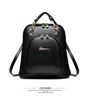 Wholesale Plastic Plaid Bags - 2016 spring new pu leather shoulder bags shoulder bag dual female Miss Han Banchao Backpack