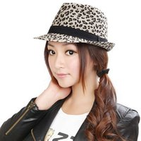 Wholesale Leopard Yarn - 2016 new selling leopard print caps white grey fitted caps fashion caps medium size for almost 4color