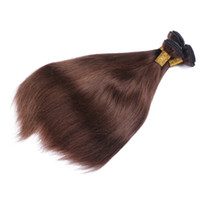 Wholesale Indian Chocolate Human Hair - Pure #4 Dark Brown Color Hair Weaves Extensions 9A Mink Indian Human Hair Chocolate Brown Hair 3Bundles Silky Straight Free Shipping