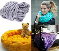 Wholesale Hand Crocheted Scarves - Wool Yarn Super Soft Bulky Arm Knitting Wool Roving Crocheting DIY hand knitting scarves hats clothing knitting wool