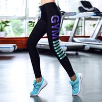 Großhandel-High Taille Leggings Fitness Frauen Push Up Hüften Leggings Calzas Frau Fitness Bekleidung Damen Sporting Leggings