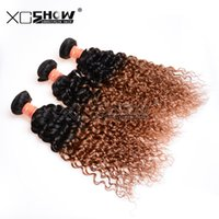 Wholesale Curly Remy Hair For Sale - Cheap ombre hair 2 tone curly hair weft ali queen hair products high quality top hair extensions remy human hair 3bundles for sale