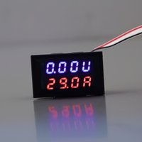 ingrosso calibro blu digitale-All'ingrosso-1pc LED blu rosso DC 0-100V 10A Display doppio Voltage Meter Digital LED Voltmetro Amperometro Pannello Amp Volt Gauge Hot in tutto il mondo