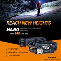 Wholesale Headlamp Cree Fenix - New Fenix HL50 Headlamp 3 Mode Strong Multi-Purpose--Free shipping CREE XM-L2 T6 LED