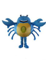 Wholesale Custom Crab Costume - New Style Blue Crab Mascot Cartoon Character Costume Adult Size Sea Aniaml Crab Cartoon Mascot Christmas Party Costumes