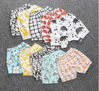ingrosso i ragazzi estivi indossano marche-19 Design Kids INS Pantaloni 2016 Estate geometrica Animal Print Pantaloncini per bambini Pantaloni di marca per bambini Abbigliamento in cotone Baby PP Pantaloni Short Wear B4198