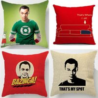 Nonwoven case theory - The Big Bang Theory Cushion Cover Jim Parsons Sheldon Spot Pillow Covers Decorative Sofa Couch Seat Chair Linen Cotton Pillow Case
