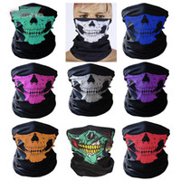Wholesale New Ski Skull Mask - New Skull Face Mask Outdoor Sports Ski Bike Motorcycle Scarves Bandana Neck Snood Halloween Party Cosplay Full Face Masks HH-M05