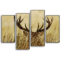 Oil Painting painting realism - Deer Paintings Fashion Wall Hanging Picture Realism Animal Paintings The Beautiful Deer In The Grass Wall Art for Living Room Decoration