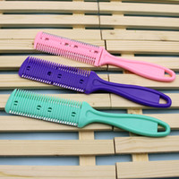 Wholesale knife head wood online - Sided comb Thinning Thinning is thinning comb haircut the barber shaved his head knife genuine mail
