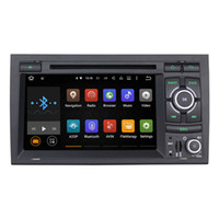 Wholesale Dvd Player Audi A4 - Joyous Android 5.1.1 System 1024*600 Double DIN Car DVD For Audi A4 Radio Stereo GPS Navi WIFI 3G with Canbus