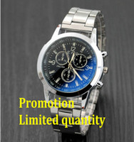 Wholesale Advance Quartz Watch - Wholesale and retail Advanced Colorful blue glass Three eyes Alloy strap gentleman Watch Fine gifts Promotional offers