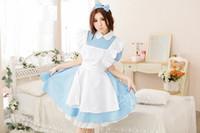 alice harikalar diyarı anime toptan satış-Ücretsiz kargo COSPLAY Alice in Wonderland COS Japon anime giyim Kostümleri Süper sevimli Hizmetçi Hizmetçi servisi