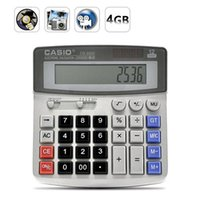 calculator office achat en gros de-caméra 4Go Calculatrice réel Bureau Business Calculator Invisible sténopé MINI caméra DV DVR enregistreur vidéo Mini espion caméscope