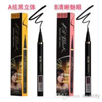 Wholesale Eyes Bobs - New Korea Authentic BOB Kill Black Pencil Gel Liner Clear Waterproof Liquid Eyeliner Cosmetic Makeup Eye Liners Real Pen One Step Eyeliners