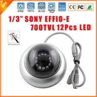 Wholesale Effio Dome Cameras - 1 3'' SONY Effio-E CCD Sensor CCTV 700TVL Night Vision Vandalproof 12 IR LED Indoor Dome Security Camera