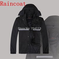 Wholesale Bicycle Rain Gear - High quality Raincoat rain pants Heavy rain gear Waterproof motorcycle bicycle rain suit poncho Large Size fishing raincoat 4XL
