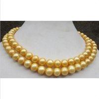 Wholesale Pearl Earrings 11 Mm - AAA 10-11 mm south sea golden pearl necklace 35 inch 14k yellow + gift earring
