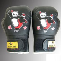 Wholesale Kids Panda Gloves - Children Kung Fu Panda Print Boxing Gloves Fighting Martial Arts For Kids Gifts