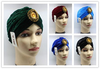 Wholesale Jewels Accessories - 20 pcs cheap Women Jewel Accessory Turban Soft Velvet Turban Headband Beanie Hat Turbante Free shipping